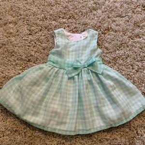 Beautiful baby girl dress in Tiffany blue
